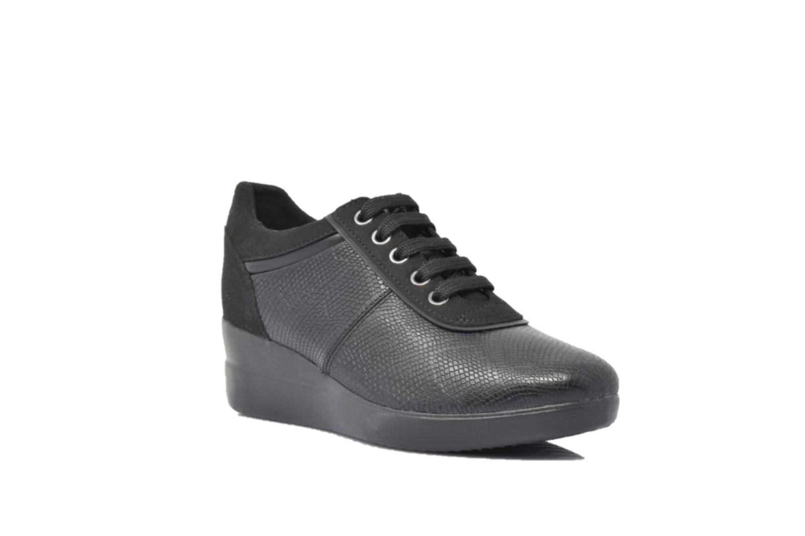 6a9cd20d48 GEOX STARDUST Sneaker Pelle Black
